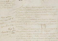 Автограф Наполеона Бонапарта