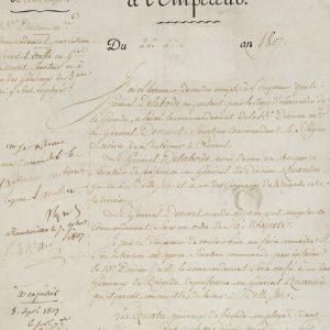 Автограф Наполеона Бонапарта №2