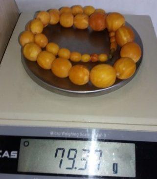 Бусы из янтаря - 79,37 грамма