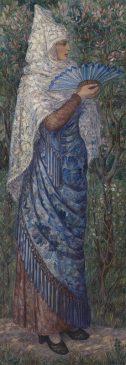 Картина «Испанка» (L'Espagnole) российской авангардистки Натальи Гончаровой (1881–1962)