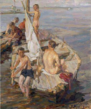 «Мальчики в лодке» Константина Максимова