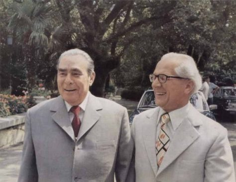 Леонид Брежнев и Эрих Хонеккер
