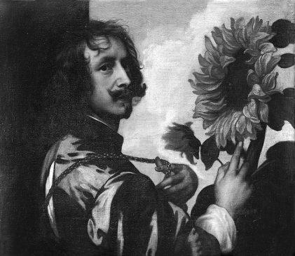Антонис ван Дейк (1599-1641) «Автопортрет с подсолнухом». Копия автопортрета художника 1632-33 гг., который находится в частной коллекции герцога Вестминстерского