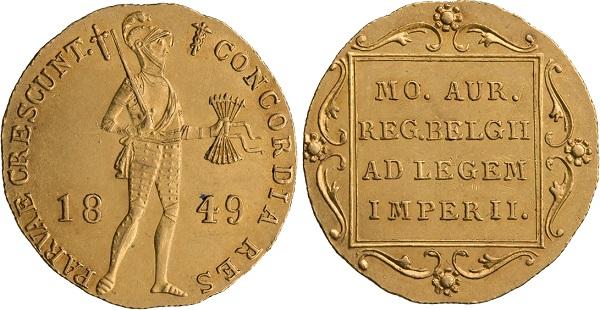 Нидерландский дукат русской чеканки 1849 года