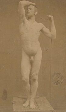 """Модель для скульптуры """"Бронзовый век"""" Огюст Нейт, апрель 1877 года"""