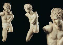 Древнеримская скульптура Эрота, натягивающего тетиву, мрамор, I век н. э.
