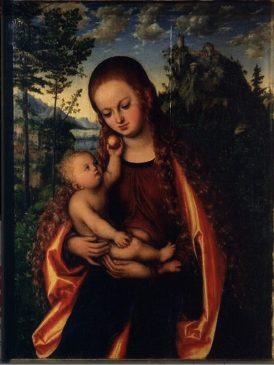 Лукас Кранах Старший «Мадонна с младенцем» («Глоговская Мадонна»), 1518