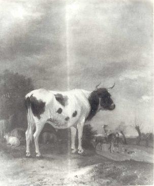 """Адреан ван де Вельде """"Пейзаж с коровами"""" (35,5 х 30,5 см)"""