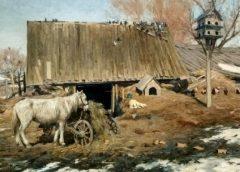 """""""Двір напровесні"""", 1913 год, Сергей Светославский"""