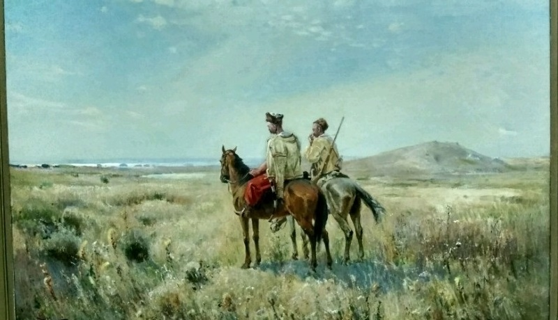 «Козаки в степи», 1900-е годы, Сергей Васильковский