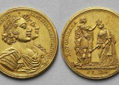 """Золотая медаль """"В память коронации Екатерины I"""", 1724 год"""