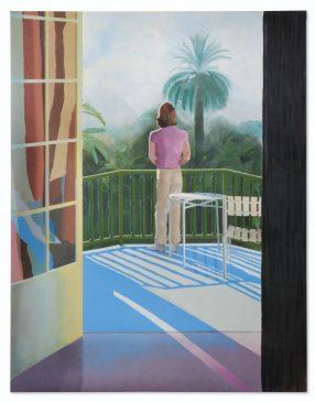 "Дэвид Хокни (1937-…) ""На террасе"" («Sur la Terrasse») 1971 год, 274,5 x 213,5 см"