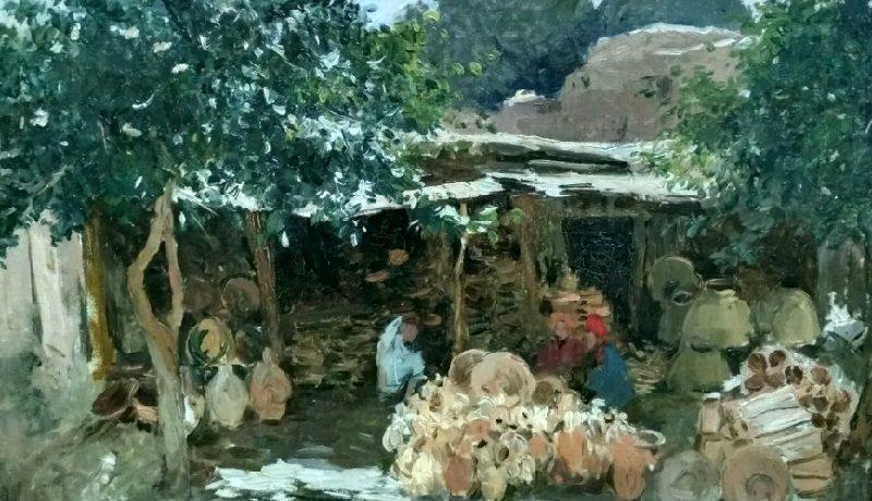 «Східний двір. Етюд», 1901-1911 годы, Сергей Светославский