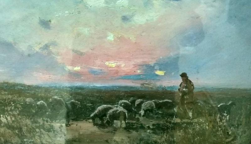 «Вечером в степи. Отара овец», 1900-е годы, Сергей Васильковский