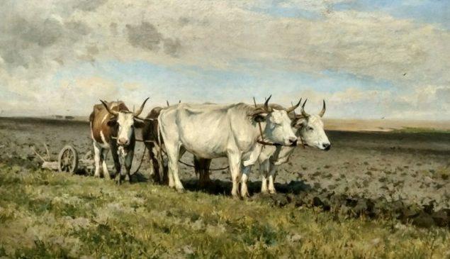 """""""Воли на оранці"""", 1891, Сергей Светославский"""