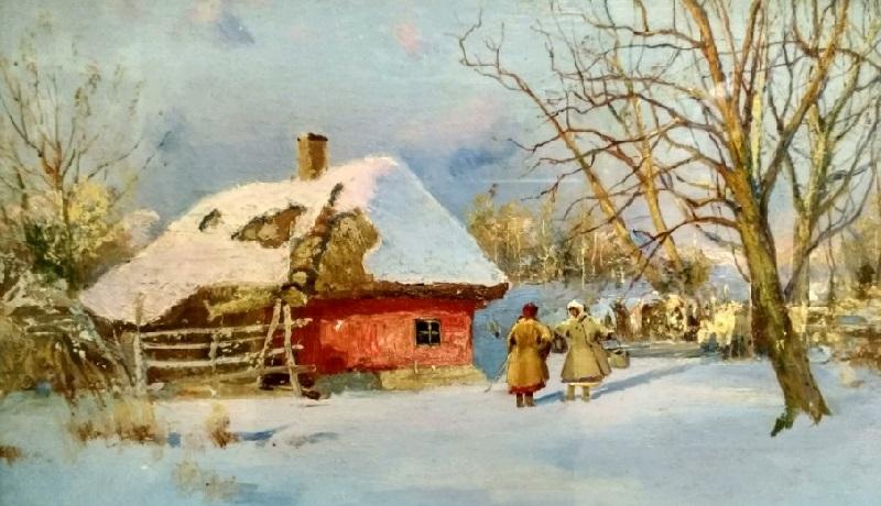 «Зимой в селе Опишня», 1900-е годы, Сергей Васильковский