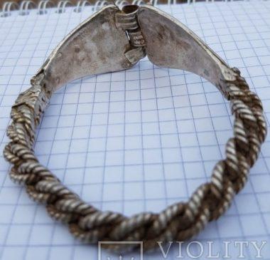 Сложновитые серебряные браслеты, средневековый КР