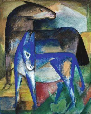 "Франц Марк ""Два синих ослика"" (""Лошадь и осел"") (Zwei blaue Esel (Pferd und Esel))"