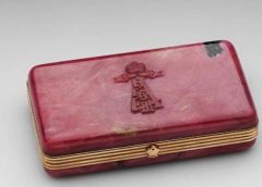 Золотой портсигар Фаберже Александра III