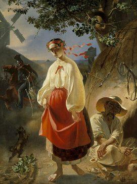 Т. Г. Шевченко. «Катерина». 1842. Холст, масло. 93 × 72,3 см.