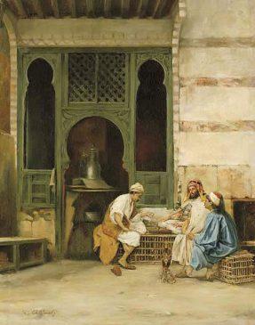 Chess Players, Cairo Stanisław Chlebowski (1835–1884)