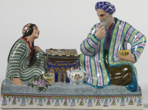 Данько Наталия Воробьевский Алексей Чернильница с крышкой и емкостью для чернил Игра в шахматы 1938 г.