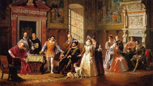 Луиджи Муссини. «Шахматный турнир при дворе короля Испании», 1883