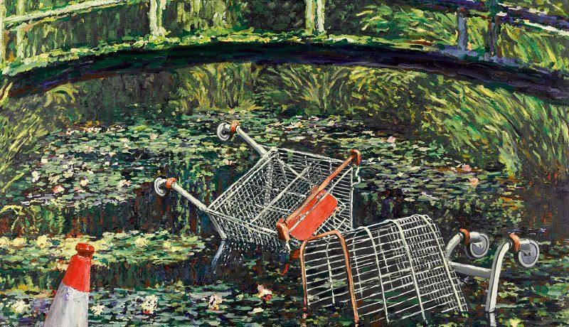Картина Бэнкси «Покажи мне Моне» продана за 7,55 млн фунтов стерлингов