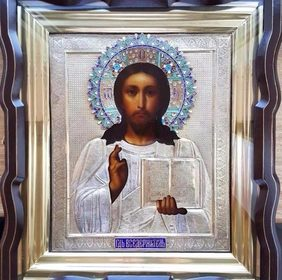 """Икона """"Господь Вседержитель"""" 27х22 см"""