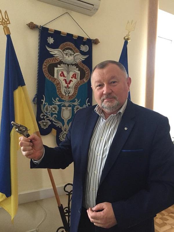 Старинный револьвер из Киево-Могилянской Академии