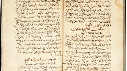 """Два тома из """"Полной книги медицинского искусства"""" авторства Али ибн аль-Аббаса аль-Маюси, переписанные Ибн аль-Авани"""