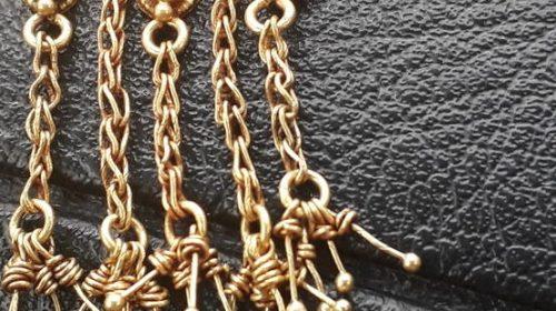 Золотые серьги Деметра