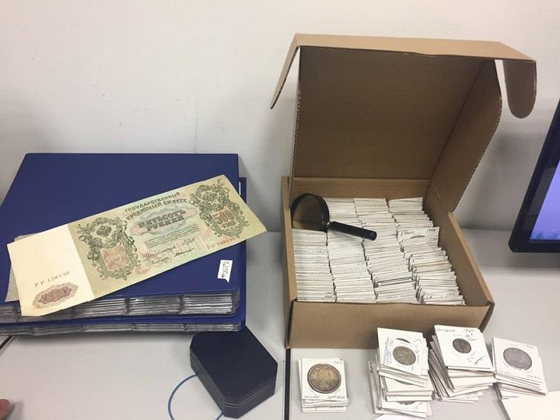 Украинский нумизмат пытался ввезти из США в Украину коллекцию монет