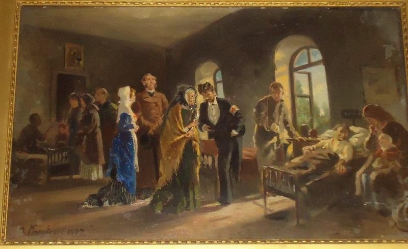 """Маковский В.Е. """"Посещение госпиталя"""""""