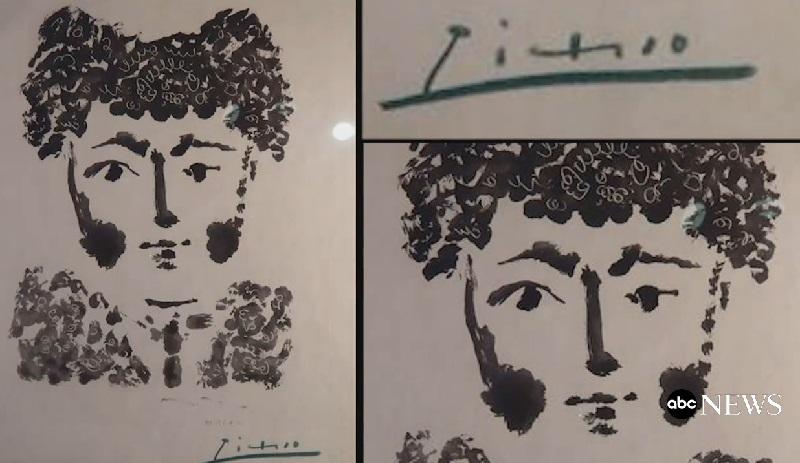 """Пабло Пикассо """"Тореро"""", 1949"""