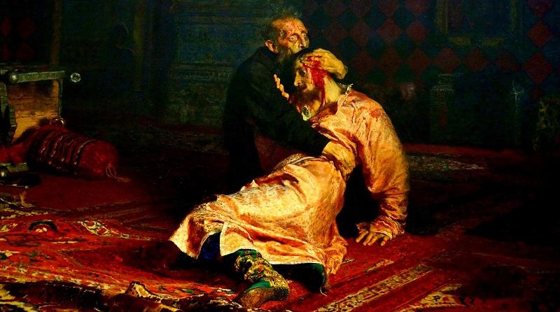 """В Третьяковке пьяный посетитель повредил картину """"Иван Грозный убивает своего сына"""""""