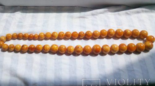 Янтарные бусы. 60 см, 80 гр
