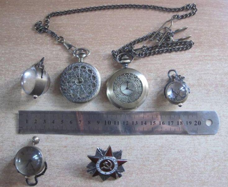 пограничники обнаружили орден Отечественной войны 2-й степени и 5 старинных карманных часов