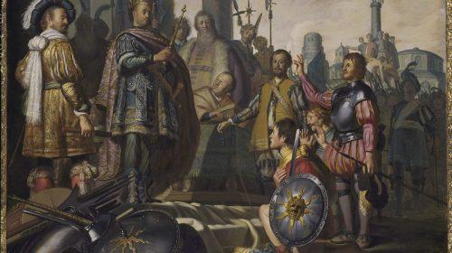 HISTORIESTUK MET ZELFPORTRET VAN DE SCHILDER 1626, Rembrandt