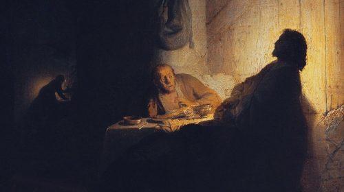 CHRISTUS TE EMMAUS ca. 1628, Rembrandt