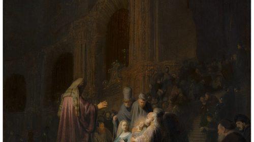 HET LOFLIED VAN SIMEON 1631, Rembrandt