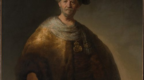 MAN IN OOSTERS KOSTUUM ('DE NOBELE SLAAF') 1632, Rembrandt