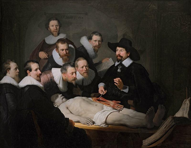 Рембрандт «Урок анатомии доктора Тульпа» (1632)