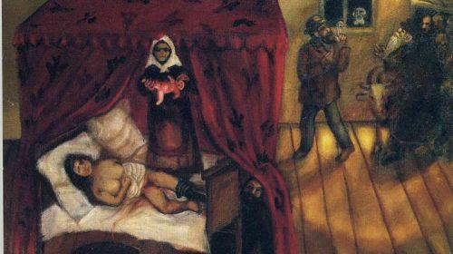 """Марк Шагал It's the birth -""""Роды"""" 1910"""