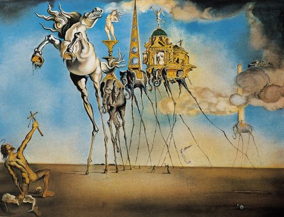 "Сальвадор Дали ""Искушение святого Антония"", 1946 (холст, масло, 89,5 х 119,5 см)"