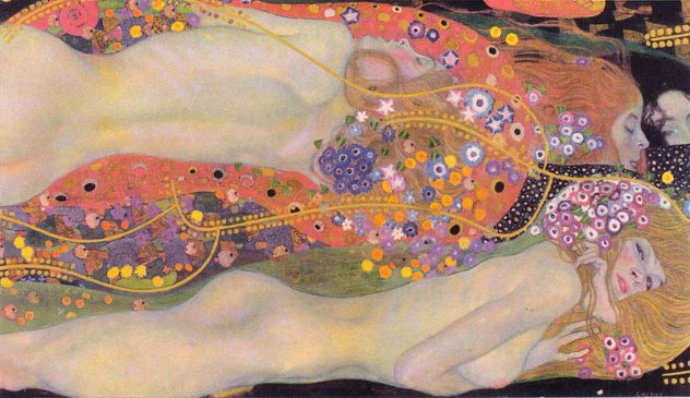 """""""Водяные змеи II"""" ( Wasserschlangen II), Густав Климт (1862-1918), 1907 года"""