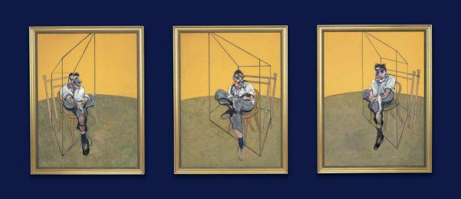 Триптих «Три наброска к портрету Люсьена Фрейда» (Three Studies of Lucian Freud) Фрэнсиса Бэкона (1909-1992)