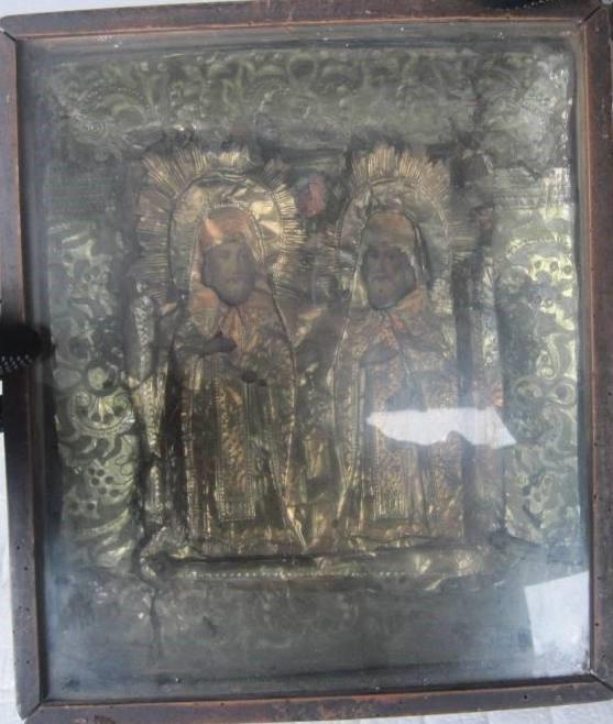 Старинная икона «Петра и Павла»