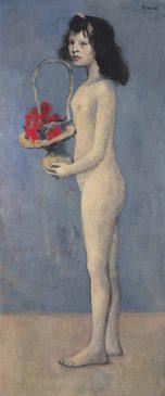 """""""Девушка с цветочной корзиной"""" (Fillette à la corbeille fleurie), Пабло Пикассо, 1905 год"""