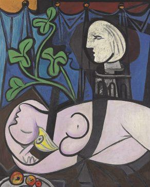 """Обнажённая, зелёные листья и бюст"" (Nude, Green Leaves and Bust), Пабло Пикассо, 1932 год"